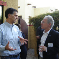 Fabian Alfie (l), Mayor Jonathan Rothschild (r)