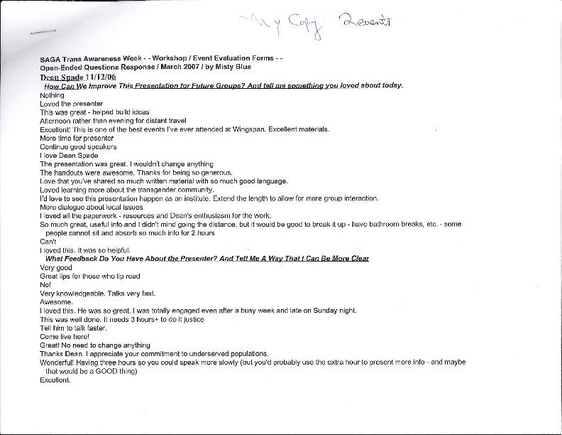 2006 Open-Ended Question, Dean Spade Events - Misty Blue.pdf